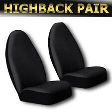 Ford Ranger Solid Black Pair Bucket Seat Covers Universal 2pc Front
