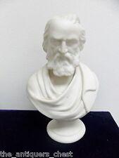 """Antique Parian Porcelain Bust of Longfellow by J & T Bevington- England -7.75"""""""