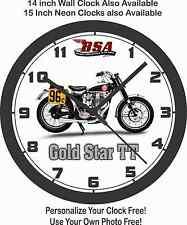 BSA GOLD STAR TT FLAT TRACK RACER WALL CLOCK-TRIUMPH, HARLEY DAVIDSON, XR750, YA