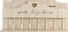 Shabby Chic Metal & Wood Key Hook Holder Earring Holder Metal Key Jewellery Hook