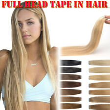 AAA + Cinta de Pegamento en Extensiones de Cabello 100% cabello humano Real Remy de Suave Piel Weft Ombre