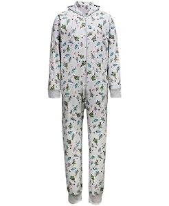 Family Pajamas Matching Men's Festive Trees One Piece Multicolor Size XL