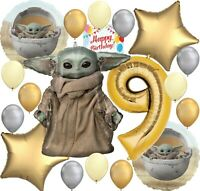 Baby Yoda Star Wars The Mandalorian Party Balloon Bundle for 9th Birthday Deluxe