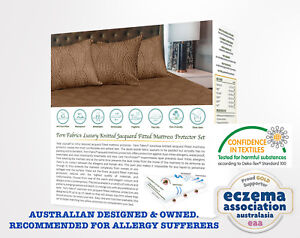 WATERPROOF Luxury Knitted Mattress Protector Set.  Australian Designed and Owned