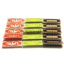Moon 3 Colors Combo Pack Rolling Papers 70*36mm 15 booklets=750 leaves 1.0""