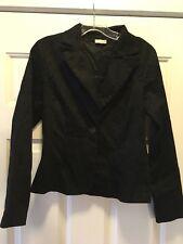 Floral Design Size M Made in Usa Rave brand Black Jacket with Black Velvety