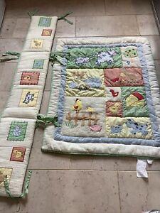 Kids Line cot bedding set (smoke free home)  quilt, bumper,excellent Thick