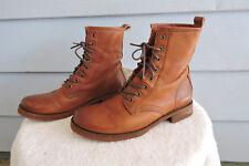 Women's Frye 'Veronica Combat' Leather Boots Cognac/Brown Size 9B