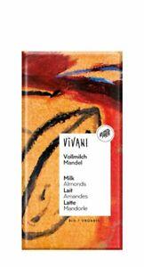 Vivani Vollmilch Schokolade mit ganzen Mandeln bio 100 g