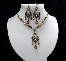 Vintage Style Necklace & Earrings Set With Australia Crystals N1260A