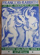 Vintage 1986 Concert Programme, FRANCOIS RABBATH (Double Bass), Ephemera