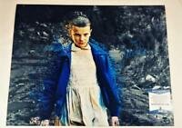 "MILLIE BOBBY BROWN ""11"" SIGNED 16x20 METALLIC PHOTO STRANGER THINGS BAS COA 986"