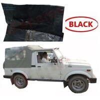 Suzuki Black Soft Top Roof Long Body SJ410 SJ413 Samurai Maruti Gypsy King