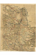 Civil War Map; Northern Hanover, Virginia; Antique Map,1860
