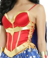 DC COMICS SEXY WONDER WOMAN BUSTIER CORSET COSPLAY TOP HALLOWEEN COMIC CON SZ MD