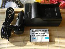SLB-11A Battery + Charger For Samsung WB5000 WB5500 WB600 WB610 WB650 WB660 EC-W