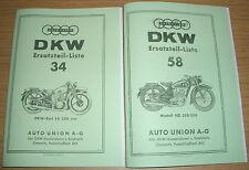 Ersatzteilliste DKW Krafträder SB 350 & NZ 250/350