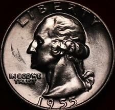 Uncirculated 1955-D Denver Mint Silver Washington Quarter