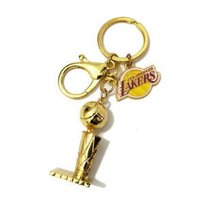 Larry O'Brien NBA Championship Trophy Key Chain Mini Trophy LA Lakers Key Chain