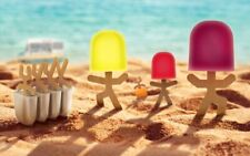 Lollypop Men 4 Fun Shaped Popsicle Sticks With Mold