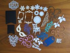 beautiful mixture of  craft die cuts for card making etc