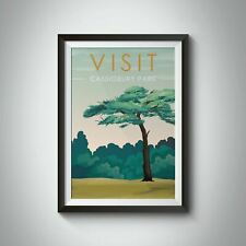 More details for cassiobury park, watford travel poster - framed - vintage - bucket list prints