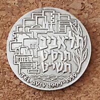 "israel silver State Medal 1959 ""TEL AVIV 50TH ANNIVERSARY"" 35mm 30gr"