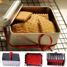 Stainless Steel Plunger Cookie Cutter Pastry Fondant Decorating Square Mold KI