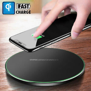 Qi Wireless Charger Fast Charging Pad For iPhone X 8 7 6 Samsung S9 S8 Note 8 9