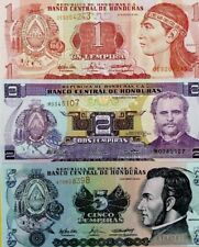 HONDURAS 1 2 5 Lempiras GREAT COLOURFUL UNCIRCULATED BANKNOTES SET