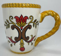 Pier 1 Earthenware Coffee Mug Tea Cup Oralia Large Hand Painted Pottery