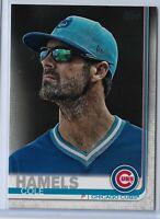 2019 Topps Series 2 Baseball Short Print Variation Cole Hamels #540 Chicago Cubs