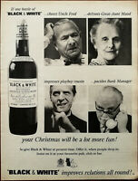 Black & White Buchanan's Choice Old Scotch Whiskey Vintage Christmas Advert 1965