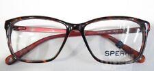 SPERRY Catalina Womens Tortoise/Red Acetate Eyeglass Frames 54-14-135 (Lot 3854)