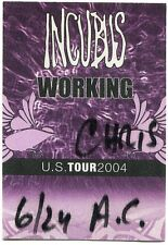 Incubus 2004 Us Concert Tour Backstage Pass! Authentic stage Original
