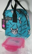 Betsey Johnson Cats Kittens Insulated Lunch Bag Tote Container With Tags
