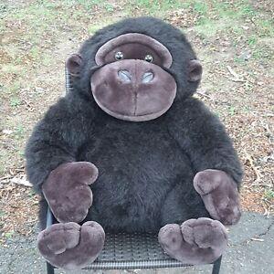"FAO SCHWARZ Jumbo Gorilla Stuffed Animal 25"" Tall Large Jungle Ape Monkey Plush"
