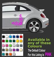 2 x Floral design decals / sticker for car, Caravan, Windows Etc...