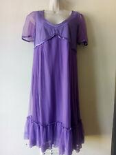 NOA NOA Purple Romantic Tule Empire Line Tea Dress Size S Small ❤