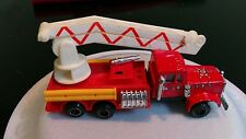 Vintage large Metal plastic Fire Engine Truck Rescue Emergency Vehicle toy car