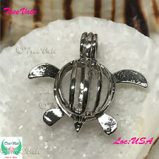 Pearl Cage Pendant - Baby Turtle Fun Gift!!