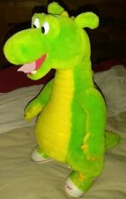 L@@K VINTAGE 1994 ADVENTURES of DUDLEY DRAGON Green Rubber Shoes STUFFED PLUSH
