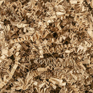 Crinkle Paper Kraft Natural Tan Brown Shredded Gift Basket Filler Bedding Nest