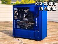 Custom Gaming PC RTX 2080Ti, Intel i9 9900k, 32GB DDR4 RAM, RGB, VR, 4K