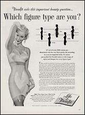 1954 sexy Pinup Girl art modeling Formfit Life girdle bra retro print ad LA15