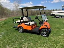 Yamaha G29 Drive Custom Golf Cart 48 Volt Harley Davidson Orange 4 Seater