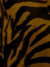 Stoff Tierfell Fellimitat Kunstfell Kurzhaar Webpelz Meterware Zebra Animalprint