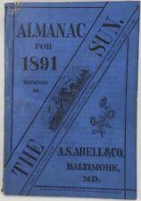 Baltimore Sun Maryland Almanac 1891