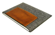 iPad MINI 4 felt & leather pocket sleeve case UK MADE, PERFECT FIT!