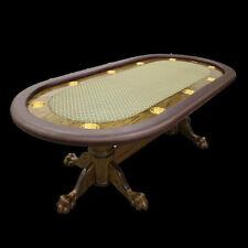 "96"" Custom Poker Table claw feet base your choice colors speed cloth stain vinyl"